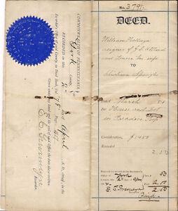 1884-York-PA-Historic-Document-Hollinger-Spangler-Land-Deed-Lancaster-Paradise