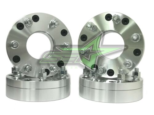 4 WHEEL ADAPTERS 5x5 to 6x5.5USE 6 LUG WHEELS ON 5 LUG CAR2 INCH 12x1.5