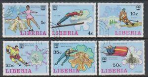 Liberia - 1976, Winter Olympic Games set - CTO - SG 1260/5 (i)