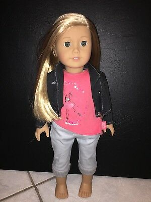 American Girl Of The Year 2014 Isabelle Palmer In Full Meet Outfit and Box NEW