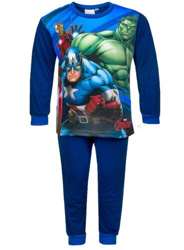 BOYS PYJAMAS Iron man /& Captain America PJ/'s Marvel Avengers Hulk