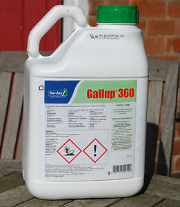 1 x 5l gallup 360 very strong professional glyphosate. Black Bedroom Furniture Sets. Home Design Ideas