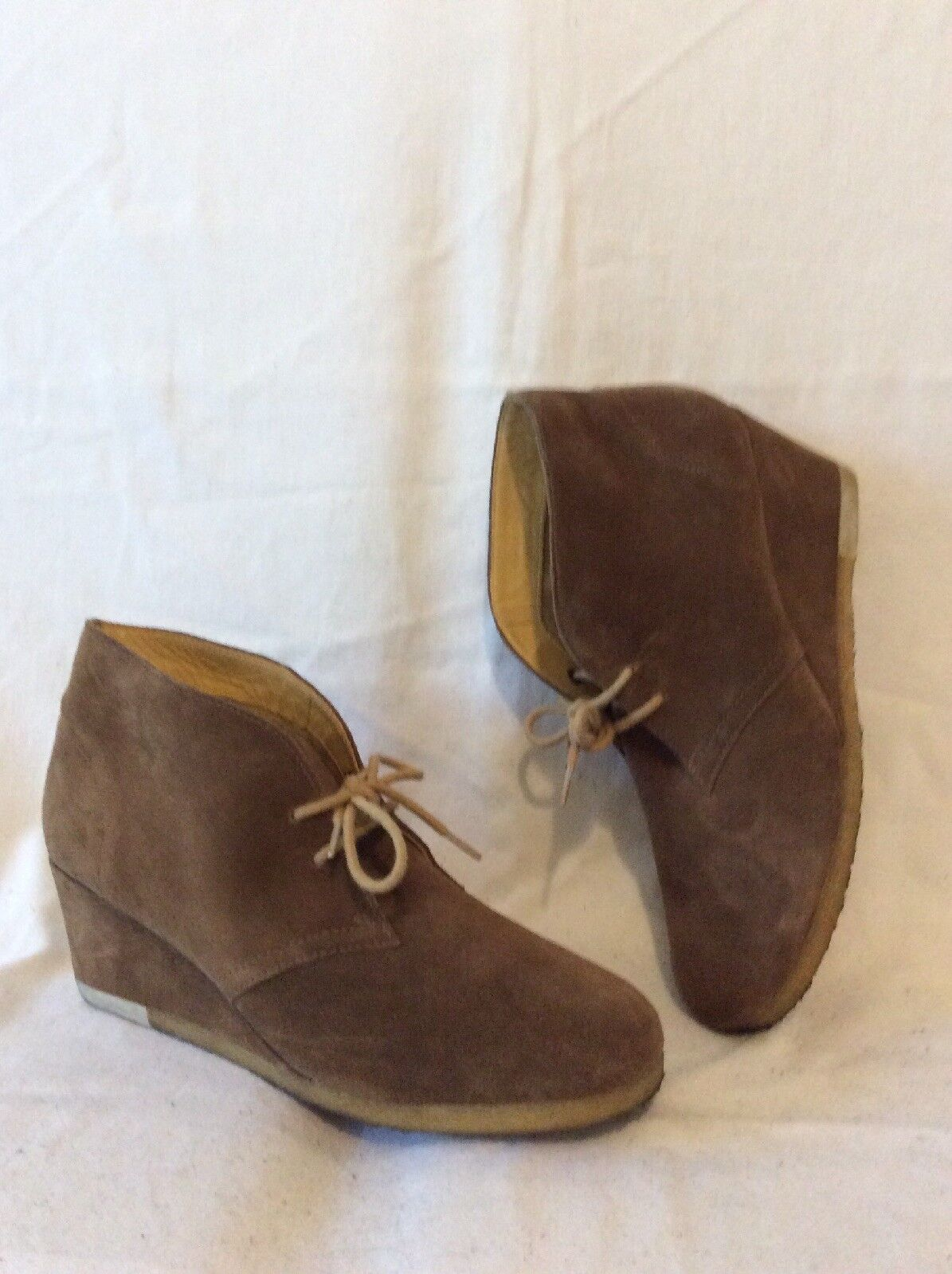 7f49e200868 Clarks Brown Ankle Suede Boots Size 7 nogktp3062-Women's Boots ...