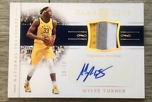 MYLES TURNER 2018-19 NATIONAL TREASURES AUTOGRAPH AUTO 4-COLORED PATCH #'d /25!!