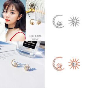 Moon-Star-Women-Elegant-Fashion-Earrings-Ear-Stud-Crystal-Rhinestone-Earrings