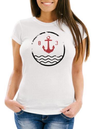T-shirt Femmes avec ancre vintage motif slim fit Neverless ®