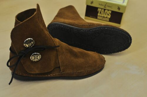 NEW TAOS MEN/'S Brown Suede LEATHER Moccasins 3000MS With Rubber Soles