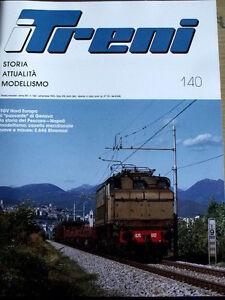 I Treni 140 1993 Poster Elettrotreno ETR 234 - Ferrovia Gozzano Alzo -Test E 646