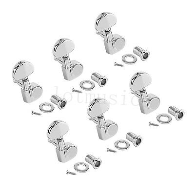 electric guitar tuning pegs tuners keys machine heads for acoustic parts 6 r ebay. Black Bedroom Furniture Sets. Home Design Ideas