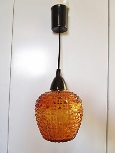 ancien-plafonnier-lustre-suspension-en-verre-granite-orange-vintage-1970