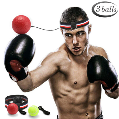 3 pack Boxing Fight Ball With Head Band Reflex Reaction Speed Training Muscle!!!