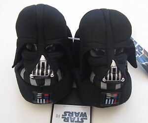 NWT-Star-Wars-Boys-Lil-Vader-Black-Slippers-9-10-Toddler-Costume-Darth-New-Movie