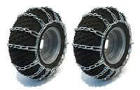 26x12-12 Tire Chains 2 Link John Deere 400 & X Series Lawn Mower Tractor Rider