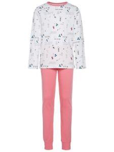 NAME-IT-2tlg-Pyjama-Schlafanzug-rosa-pink-Bubblegum-Groesse-86-bis-164