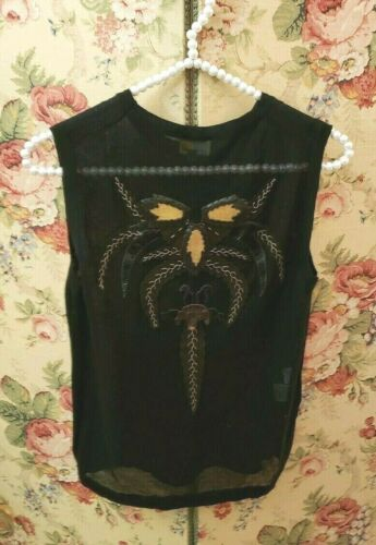 Fendi Womens Mesh Black Shirt Top
