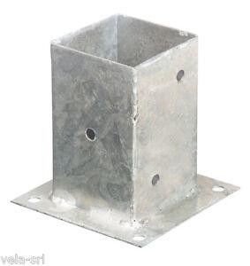 Base portapilastro in acciaio zincato - staffa a bicchiere per ...