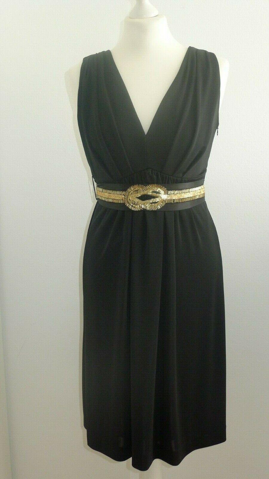 Ana Alcazar Kleid Elegant Gr. 36   S schwarz Gold  NEU