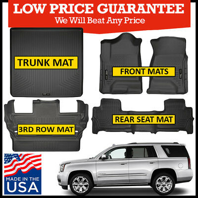2015 Escalade Tahoe Yukon Husky Black WeatherBeater 3rd Row Floor Liner
