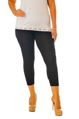 Nuova Linea Donna Leggings Pantaloni Donna Cotone Vendita Tagliato 3/4 Plus Size Nouvelle-mostra Il Titolo Originale
