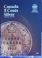Whitman Canada 5 Cents Silver 1858 -1921 Coin Folder, Album/book