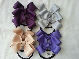 Jemlana-039-s-handmade-school-hair-ties-for-girls-Set-of-2-hair-ties