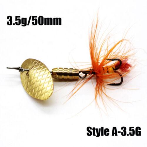 1Pc Hot Durable Metal Portable Treble Hook Crank Bait Fishing Lure Spoon Spinner