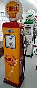 NEW SHEL  REPRODUCTION VINTAGE ANTIQUE REPLICA GAS PUMP - FREE SHIP*