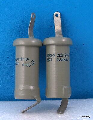 680pF  2kV  2.5kVAR Doorknob Capacitors  K15Y-2  NOS  QTY-2
