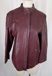 Vintage Fairbrooke Rot 100% Lammleder Leiste Vorn Moto Jacke Damen 12 Damenmode Kleidung & Accessoires