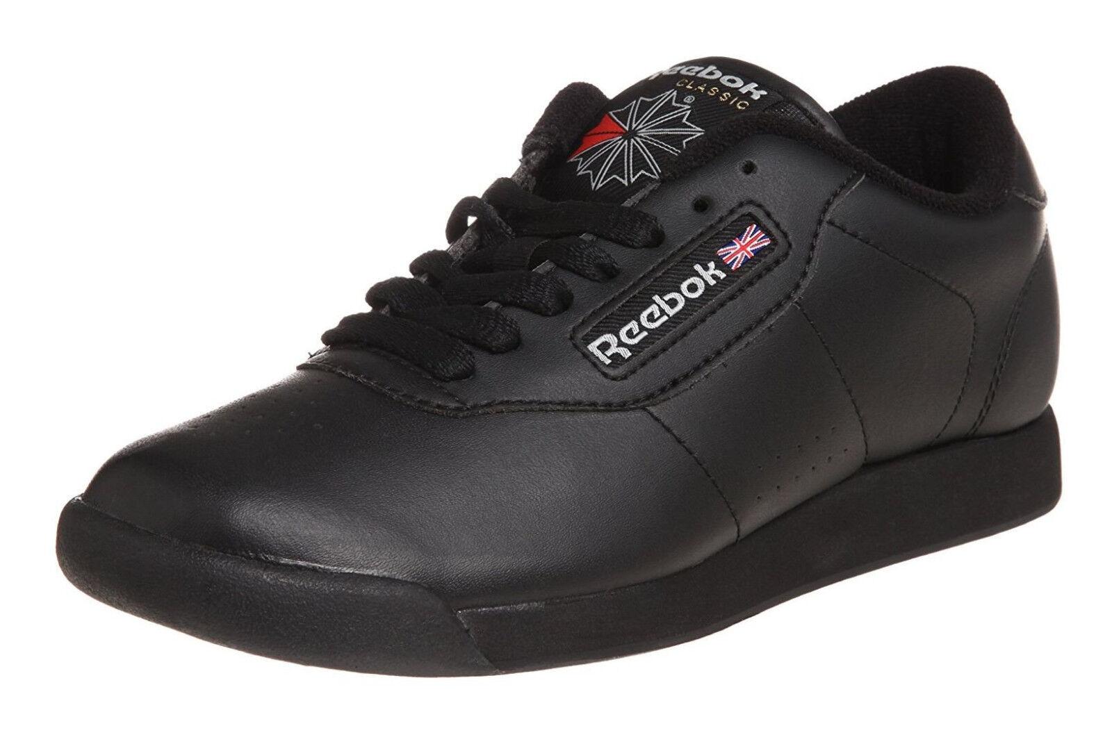 Reebok Classique Princesse Noir Femmes Courir Chaussures de Tennis