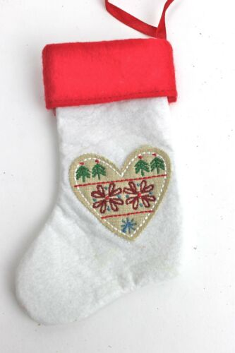 Gisela Graham Weihnachten Stoff Skandinavisch Mini Strumpf Dekoration