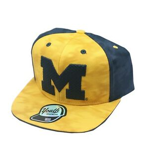Michigan-Wolverines-NCAA-Kids-Youth-Size-Snapback-Hat-Cap-One-Size-Fits-Most-New