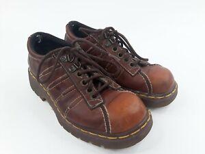 DR-MARTENS-9764-Men-039-s-Brown-Leather-Lace-Up-Shoes-Oxfords-Vintage-US-5