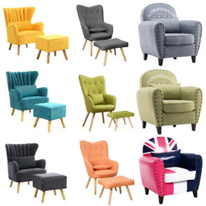 Awesome Details About Modern Curved High Back Fabric Tub Chair Armchair Sofa For Living Room Reception Uwap Interior Chair Design Uwaporg
