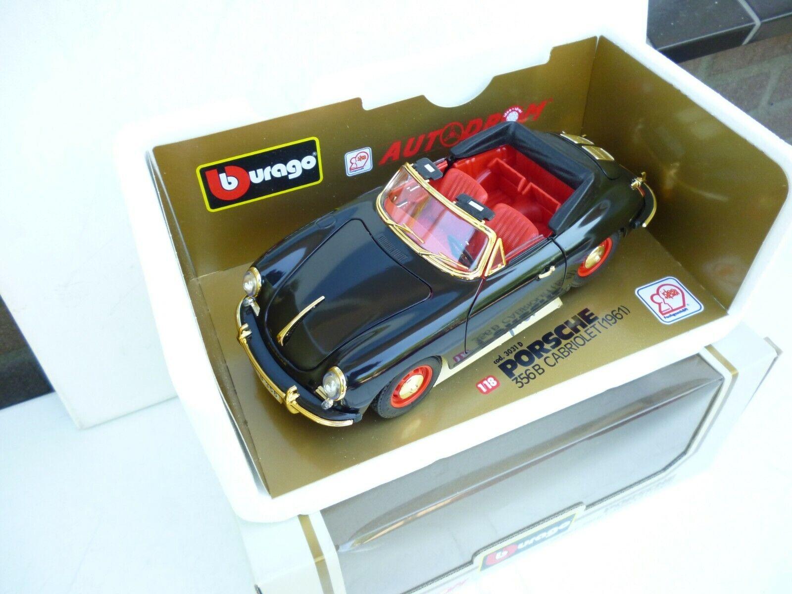 Burago 1 18 Porsche 356 B Cabriolet (1961) 3031  Cardrom Edition TOP IN BOX