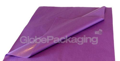 100 hojas de papel tisú Libre de Ácido Púrpura Violeta 500 Mm x 750 mm Alta Calidad *