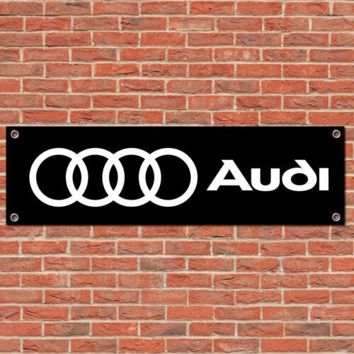 Audi Motorsport Car Vehicle Racing Sign Garage Workshop Banner Display Black