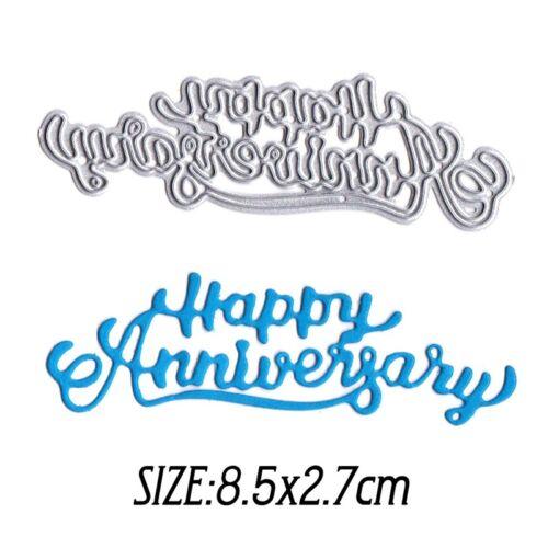 Happy Anniversary Metal Cutting Die,Stencil Card Making,Scrapbooking,DIY UK