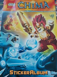 Lego-Legends-Of-Chima-Incomplete-Sticker-Album-with-some-stickers