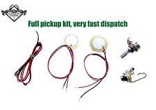 K2 Cigar Box Guitar pickup full kit. Jack socket, 2 piezo disc, volume control