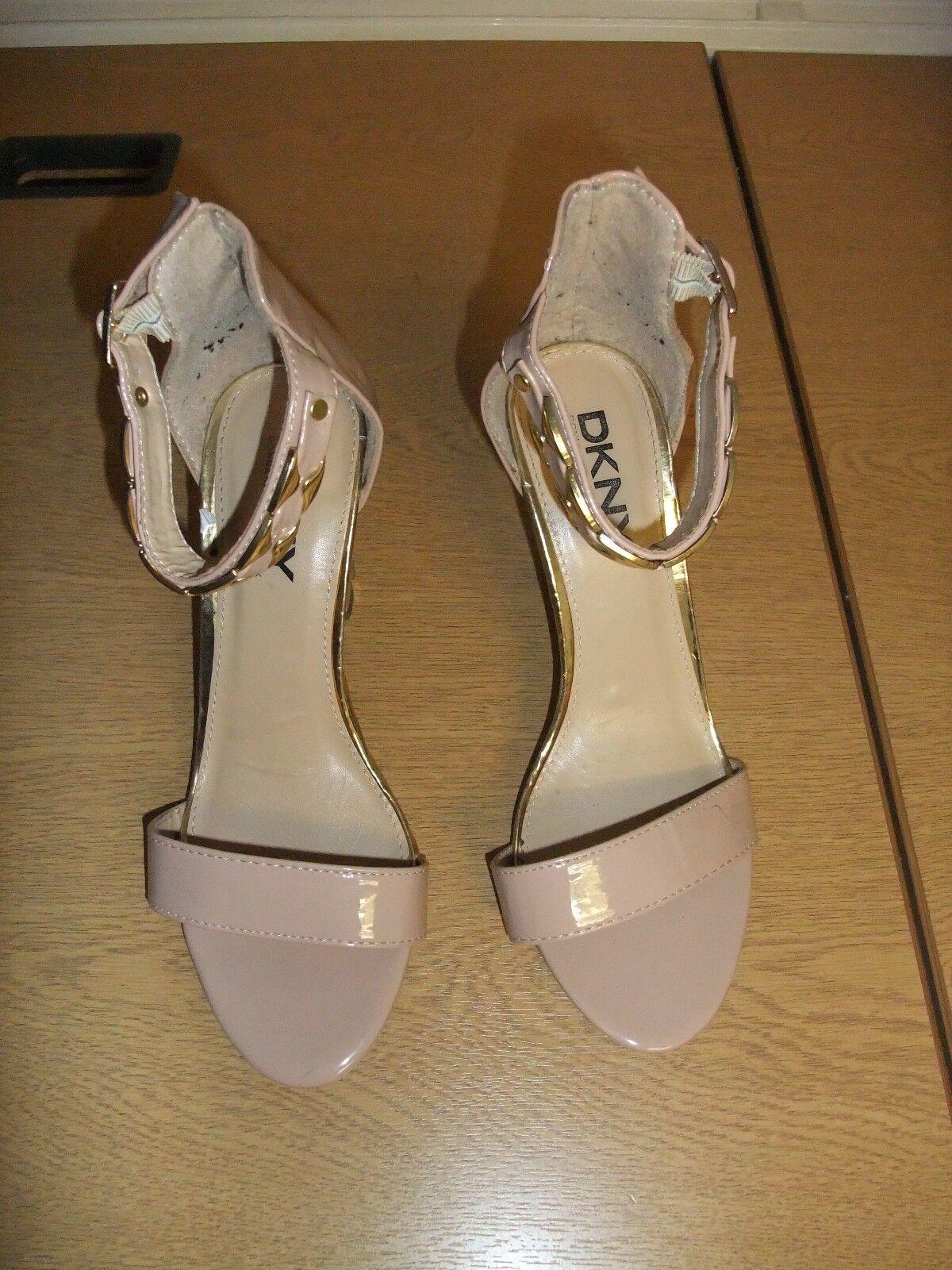 Scarpe DA DONNA DKNY nude in Pelle Tg EU party, 40, cinturino alla caviglia, party, EU usato 3211 095969