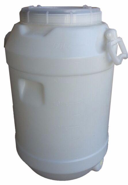 60 LT Litre Water Storage Container Plastic Fermenter Drum Barrel