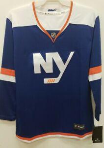 0902 New York Islanders BLUE Breakaway Hockey Jersey Womens Ladies LARGE NWT