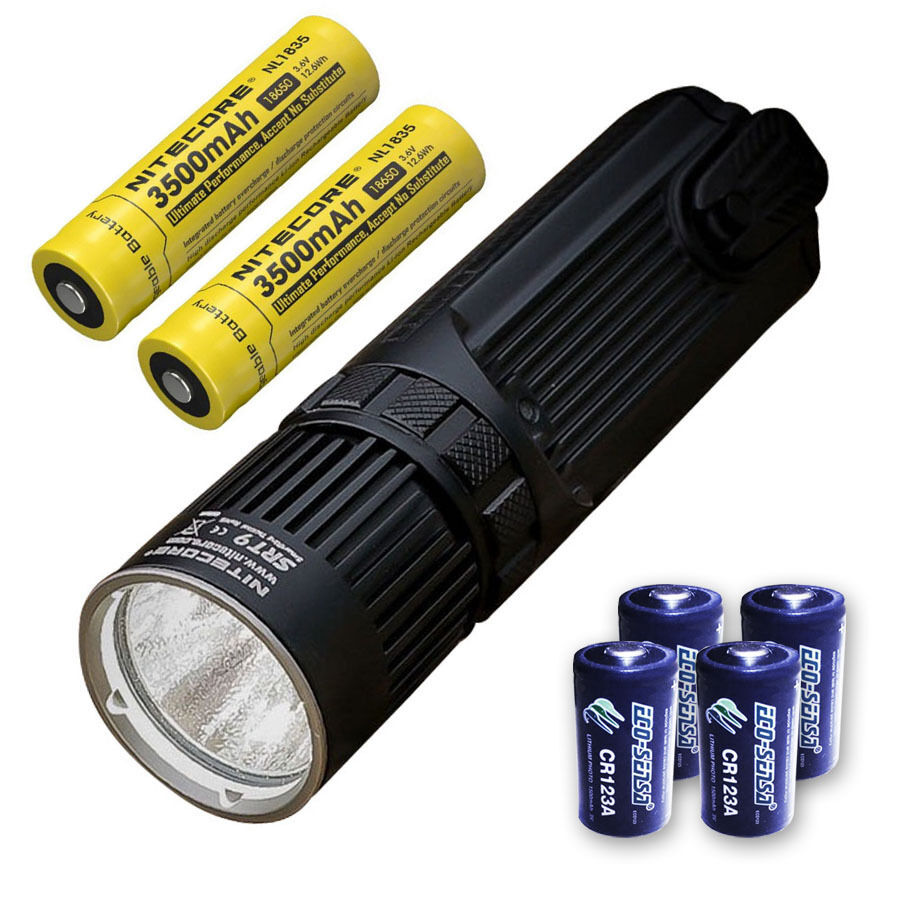 Nitecore SRT9 Flashlight -2150 Lumens Lumens Lumens w/2x NL1835 & 4x CR123A Batteries e90667