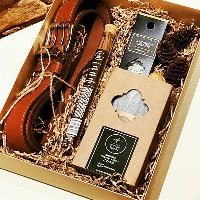 Luxury Handmade Natural Leather Mens Gift Set