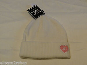 Image is loading Young-amp-Reckless-Beanie-womens-Juniors-white-pink- ec5c89b9611