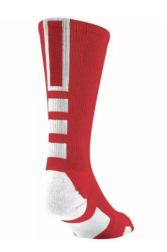 Red//White TCK Performance Lacrosse Baseline 3.0 Team Crew Socks BBPC Adult M