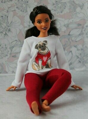 №350 Clothes for Curvy Barbie Doll T-shirt and Leggings for Dolls.