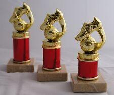 Pokal Serie 3 Pokale H.=16cm -18cm gold-rot 49 Sportarten zur Auswahl mit Schild