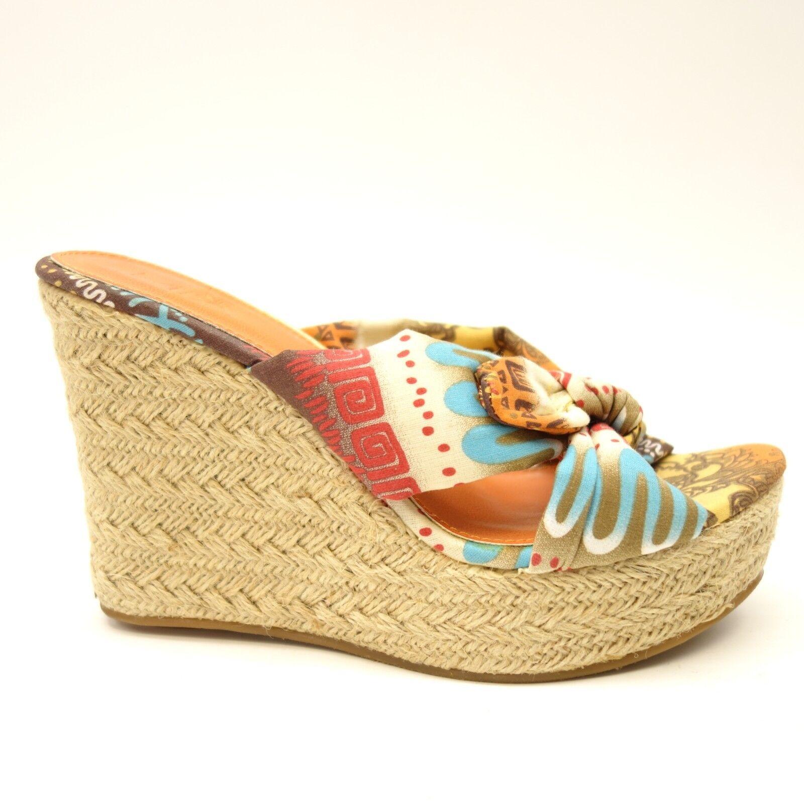 New Mia Girl Womens Rita Fabric Dress shoes Tall Mules Slides US Size 7M